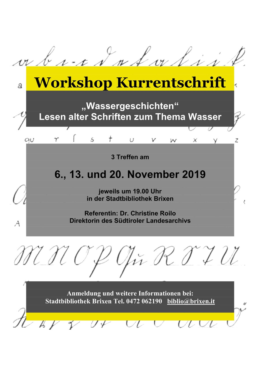 Workshop Kurrentschrift